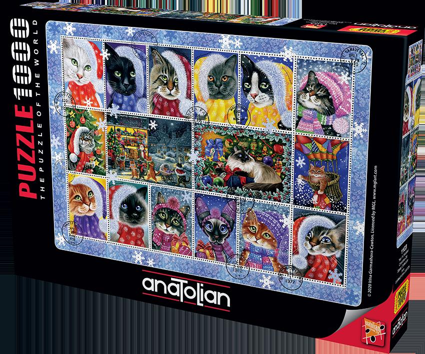 Anatolian - Yeni Yıl Kedileri/ Christma Cat Stamp Collection