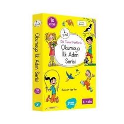 Yuva Yayınları - Yuva Yayınları 1. Sınıf Dik Temel Harflerle Okumaya İlk Adım Serisi Yeni Ses Grupları 10 Kitap