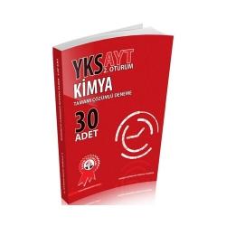 Zafer Dershaneleri Yayınları - Zafer Yayınları AYT Kimya Tamamı Çözümlü Deneme 30 Adet